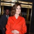 Rose Leslie – Heading to the Late Night with Seth Meyers in NYC