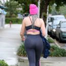 Iskra Lawrence in Spandex – Out in Miami
