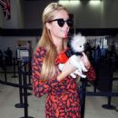 Paris Hilton Arriving On A Flight At Lax Airport In Los Angeles