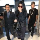 Kylie Jenner In Tights At Lax Airport In La