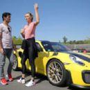 Maria Sharapova – Driving a Porsche 911 RT2 RS with Mark Webber in Stuttgart