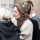 Dakota Fanning was spotted on set of her new film, Effie, in Greenwich in London yesterday, October 26