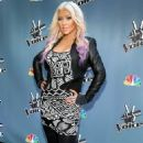 Christina Aguilera: of the NBC show during a press junket and cocktail reception in Los Angeles