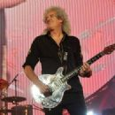 Brian May of Queen performs live on stage at 02 Arena on January 17, 2015 in London, England