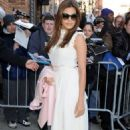 Eva Mendes: making an appearance on 'The Daily Show With Jon Stewart' in New York City