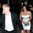 Ariel Winter -In Tight White Dress while outside Mastros Restaurant in Beverly Hills - 454 x 682