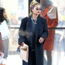 Rita Ora in Long Coat Shopping in NYC