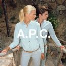 Carmen Kass for A.P.C. Spring/Summer 2015 pre collection ad campaign