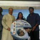 At the music launch of PRANAYAM. With Jayaprada and Mohan Lal. Songs are Melodious and Haunting:) (c)