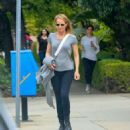 Helen Hunt In Tights Out and About In Brentwood