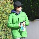 Ellen Page is seen leaving the gym after a workout in Los Angeles, California on January 13, 2015 - 454 x 579