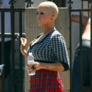 Amber Rose on the Set of 'School Dance' in Norwalk, California -  June 18, 2012 - 420 x 594