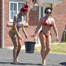 Jemma Lucy and Laura Alicia Summers in Bikini – Car Washing in Manchester - 454 x 464