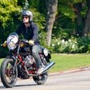 Josh Hutcherson took his motorcycle out for a ride, April 10, in Hollywood