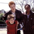 Alex D. Linz as Max, Noel Fisher as bully Troy McGinty and Orlando Brown as Dobbs in Disney's Max Keeble's Big Move - 2001