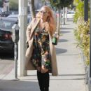 Busy Phillips in Floral Mini Dress out in West Hollywood - 454 x 532