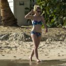 Jodie Whittaker in Bikini on the beach in Barbados