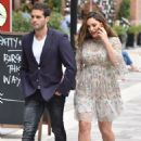 Kelly Brook and Jeremy Parisi out in London - 454 x 680