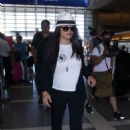 Salma Hayek – Arrives at LAX airport in LA