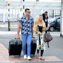 Bianca Gascoigne and boyfriend CJ Meeks Arrives at the airport in London - 454 x 489
