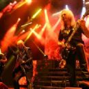 Judas Priest perform at The Pearl Concert Theater at the Palms Casino Resort on November 14, 2014 in Las Vegas, Nevada - 454 x 321