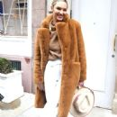 Candice Swanepoel – Leaving Ralph Lauren Show in New York - 454 x 699