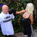 Courtney Stodden – Takes shots at her ex Doug Hutchinson punching shirt in Beverly Hills - 454 x 383