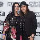 Andrea Ferro & Cristina Scabbia attend the Relentless Energy Drink Kerrang! Awards at the Troxy on June 11, 2015 in London, England