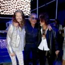 Steven Tyler, Roberto Cavalli and Joe Perry attend the Roberto Cavalli show during the Milan Menswear Fashion Week Spring Summer 2015 on June 24, 2014 in Milan, Italy - 396 x 594