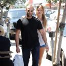 Rosie Huntington-Whiteley And Jason Statham Leaves Joans On Third In LA May 7, 2010