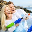Heidi Pratt in Jeans on the beach in Santa Barbara