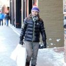 Matt Bellamy does some last minute Christmas shopping on Christmas Eve in Aspen, Colorado on December 24, 2014 - 454 x 548
