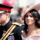 Prince Harry Windsor and Meghan Markle attend the 2018 Trooping the Colour ceremony - 454 x 293