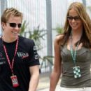 Jenni Dahlman and Kimi Raikkonen at the F1 Paddock - 400 x 288