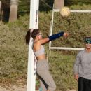 Alessandra Ambrosio – play beach volleyball with her friends