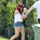 Ariel Winter in Denim Shorts out in Beverly Hills - 454 x 594