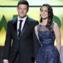 Corey Monteith and Emmy Rossum At The 18th Annual Critics' Choice Movie Awards - Show (2013) - 454 x 649