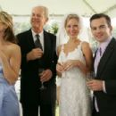 Alex (Andrea Marcellus), Louis (Mike Farrell), Jeannie (Desi Lydic) and Teddy (Reed Frerichs) in Out at the Wedding.