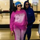 Angela Simmons – Wears pink sweats and sneakers at LAX