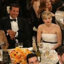Bradley Cooper, Jennifer Lawrence and Nicholas Hoult At The 71st Golden Globe Awards (2014)