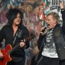 Steve Stevens and Billy Idol perform onstage at the CBGB Music & Film Festival 2014 HQ Kickoff event with Keynote Speaker Billy Idol on October 9, 2014 in New York City