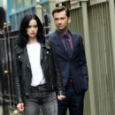 Krysten Ritter and David Tennant  – Filming 'Jessica Jones' in New York - 454 x 816