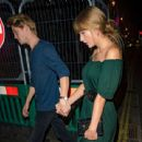 Taylor Swift and Joe Alwyn outside a restaurant in New York