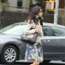 Famke Janssen out in Soho
