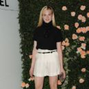 Elle Fanning attended a private dinner at the Chanel Boutique in Los Angeles last night, October 27