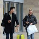 Gemma Atkinson and Aljaz Skorjanec – Arriving for dance rehearsals at a studio in Manchester - 454 x 624