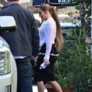 Jennifer Lopez is spotted at a meeting in West Hollywood, California on March 6, 2017