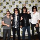 Kiss attends the Scooby-Doo! and Kiss: Rock and Roll Mystery Press Room during Comic-Con International 2015 at the at Hilton Bayfront on July 9, 2015 in San Diego, California. - 454 x 576