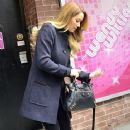 star Lauren Conrad leaves 'The Wendy Williams Show' on April 2, 2012 in New York City, NY
