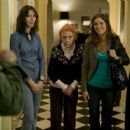 Left to Right: Rebecca Hall as Rebecca, Ann Guilbert as Andra, Amanda Peet as Mary, and Catherine Keener as Kate. Photo taken by Piotr Redlinski © 2008, Property of Sony Pictures Classics.